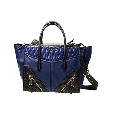 NEW MIU MIU HANDBAG RN1031 2A9F F017C LAMBSKIN BLUE Shoulder Bag Messenger  Bag  Clutch  Amazon.co.uk  Shoes   Bags ac1530c2e3ac1