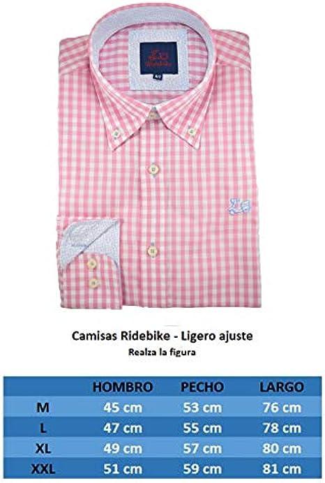Ridebike Camisa de Cuadros Rosas (107): Amazon.es: Ropa y accesorios