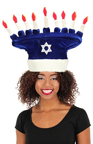 elope Happy Chanukah Plush Hat for Children and Adults -