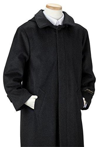 De Valoure Boys' Charcoal Gray Warm Winter Wool Long Dress Coat with Hood and Full Back Pleat Great for Holidays, Parties, Holiday Gift, All Formal events 8 by De Valoure (Image #2)