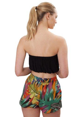 Sommerliche Shorts aus Baumwolle, tropischer Druck