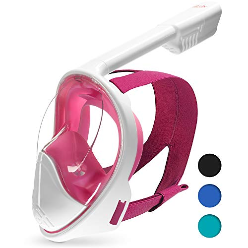 DIVELUX Full Face Snorkel Mask - Anti Fog & Anti Leak Technology | Seaview 180 Degree Panoramic Snorkel for Adult and Youth with Gifts: Waterproof Case and E-Book