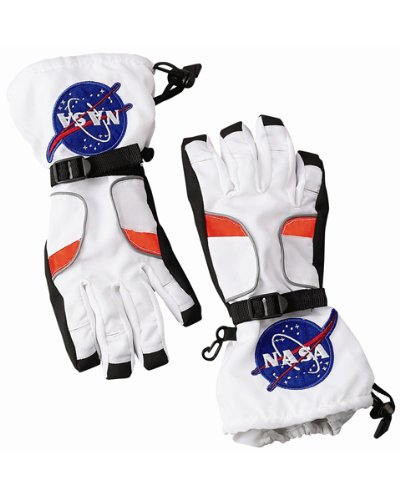 (Jr Astronaut Space Gloves Costume Accessory Child Size Large)