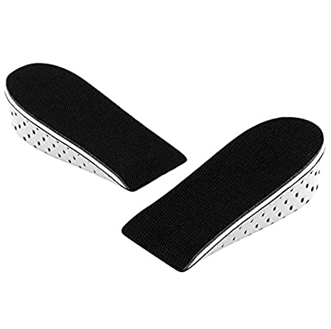 3CM Richoose One Pair Breathable Memory Foam Height Increase Insole Invisible Increased Heel Lifting Inserts Shoe Lifts Shoe Pads Elevator Insoles for Men Women