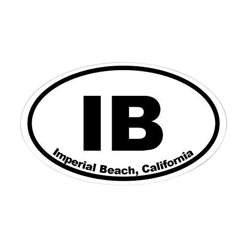 CafePress Imperial Beach, California Oval Bumper Sticker, Euro Oval Car Decal