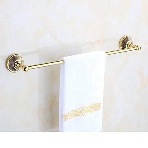 European all-copper towel bar/Natural jade Towel rack/Bathroom hardware accessories/American single bar Towel rack-C chic