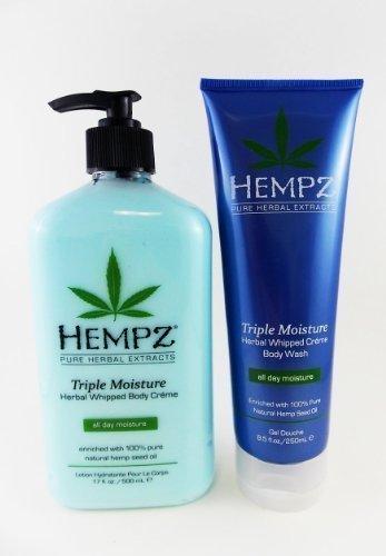 (Hempz Triple Moisture Body Lotion & Bath Wash Gift Set - 2 pc.)