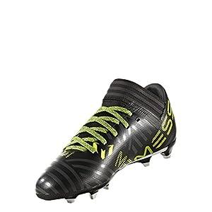 adidas Kids' Nemeziz Messi 17.3 FG J Soccer-Shoes, Black/White/Solar Yellow, 3 Big Kid
