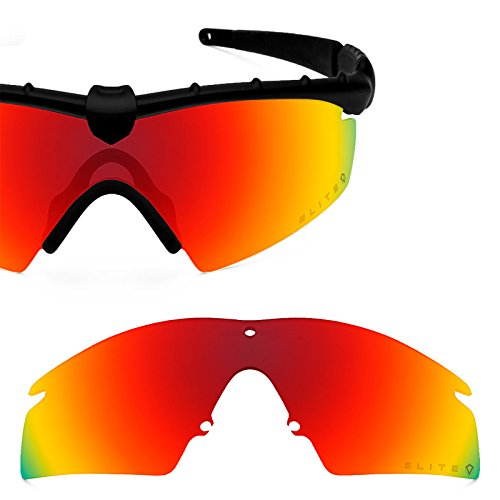 60bac1140ca Revant Polarized Replacement Lens for Oakley M Frame 2.0 Strike Elite Fire  Red MirrorShield