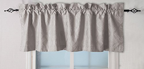 Valea Home Rod Pocket Valance Window Curtain Straight Valance,Stone