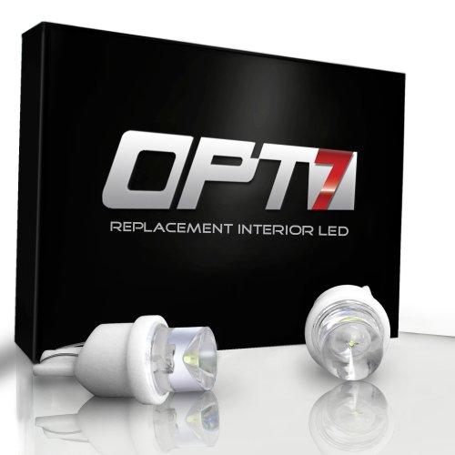 OPT7 8 Pcs Advanced Bright LEDs - T10/194/168 Bulbs - 180 Torch White Light