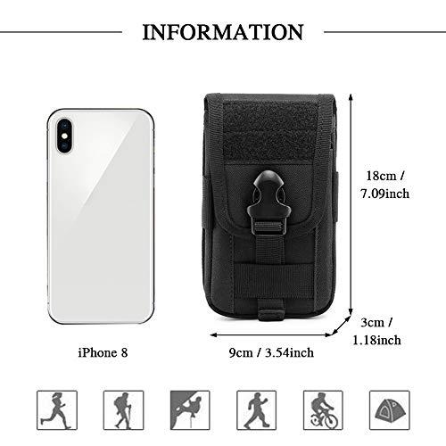 BAIGIO Pochette Téléphone Portable Tactique Sac Ceinture Homme Sacoche Molle Militaire pour Camping Randonnée Voyage… 2