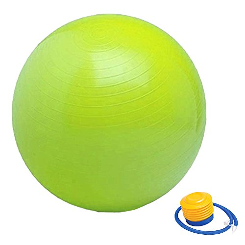 Meanhoo Balloon Swimming Inflatable Toy Yoga Ball Easy Air Hand Foot Pump Inflator for Yoga Ball Full Body Workout ,Includes 1 Ball +1 Pump