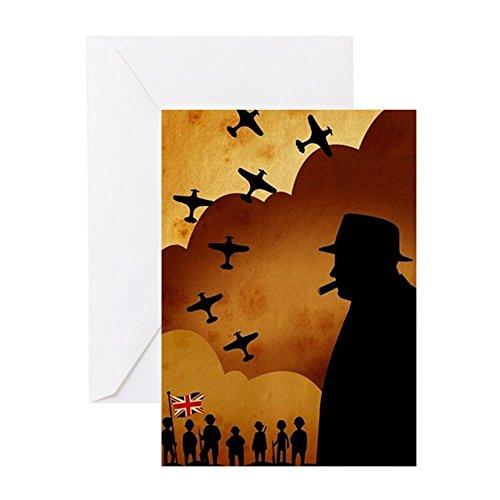 CafePress W. Churchilll At WW2 Greeting Card, Note Card, Birthday Card, Blank Inside Glossy