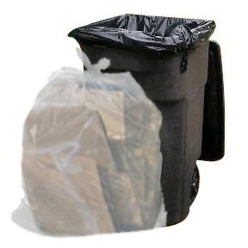 65 Gallon Clear Trash Bags, 1.5 Mil, 50 Bags,These giant 65 gallon clear garbage bags are ideal for busy offices, kitchens, retail stores, and large-scale cleanups where you need a (Big Puncture Seal)