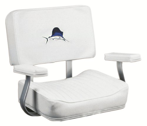 Wise Helm Chair with Arm Rests with Marlin Logo (White)