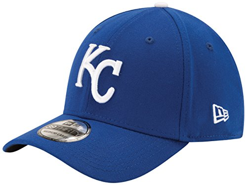 MLB Kansas City Royals Team Classic Game 39Thirty Stretch Fit Cap, Blue, Large/X-Large (Hats Kansas City Royals)