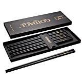 Goldage 5-Pairs Fiberglass Dishwasher-safe Chopsticks (Blossom of Richness - Gold & Black)