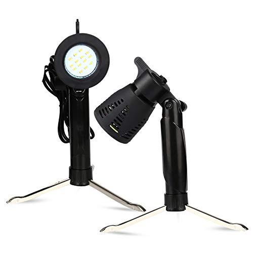 2 PCS Photography Continuous LED Portable Light Lamp for Table Top Studio Photography Photo Studio ...