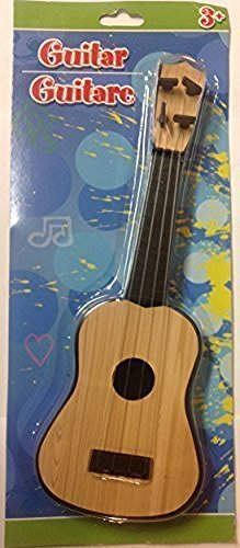 Children's 4-String Acoustic Guitar Toy, Early Education Simulation, Light Mahogany Color, Small Size - 11