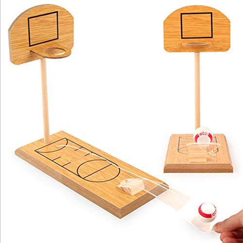 ZMAYASTAR テーブルバスケットボール ゲーム玩具 木製 折り畳み式デスクトップミニチュア 減圧ゲーム玩具 MU-15