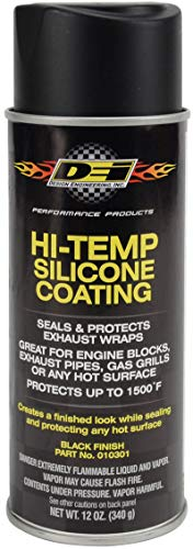 Design Engineering 010301 High-Temperature Silicone Coating Spray - Black
