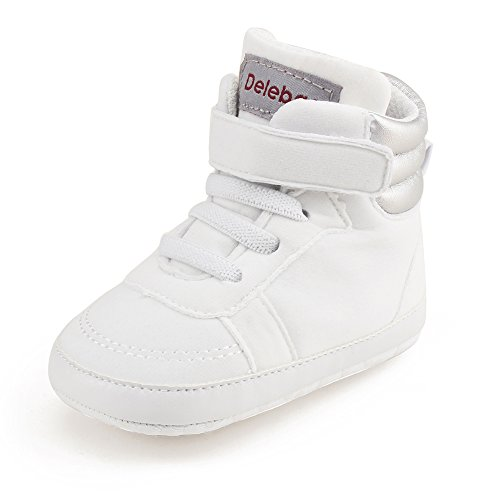 Specification Desert Boot - Delebao Infant Toddler Baby Lace Up Soft Sole High-top Suede Warm Sneakers Snow Boots (12-18 Months, White)