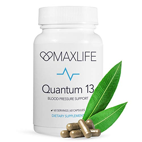 Best High Blood Pressure Supplement Capsules to Lower BP/Hypertension Naturally w Herbs, Vitamins - Hawthorn Berry, Garlic, Nutrients for Heart Health, Cardiovascular System - Quantum 13-60 ()