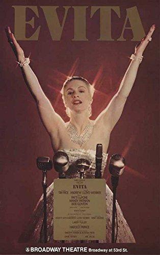 Evita Broadway Poster