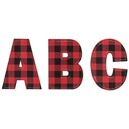 Buffalo Plaid Alphabet Stickers 1.75 inches Tall