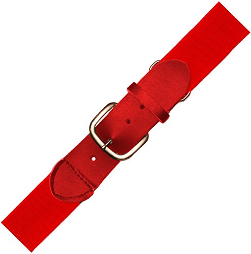 Joe's USA Baseball/Softball Uniform Belts - All Colors and Sizes (Youth, Scarlet) (Belt Elastic Scarlet)