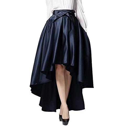WEHOPS Superb Handmade Hi-lo Skirt Asymmetrical Bowknot Empire Long Pleat Skirts