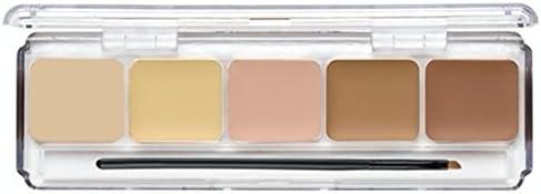 Amazon.com: Dermaflage Full Coverage Concealer Palette, 5 Colors ...