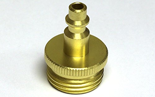 Winterize RV: Air Compressor Quick-connect Plug to Male Garden Faucet Blow Out Fitting (Lead-Free)