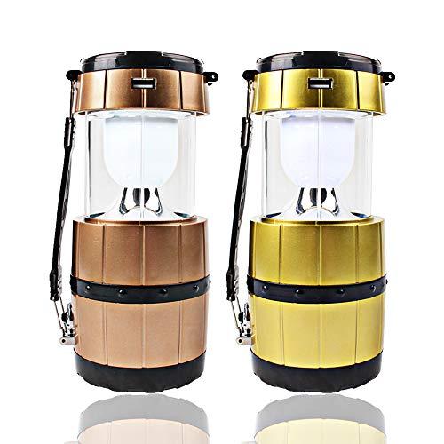 Solar Power Portable Two Ways Use Camping Lantern Light (Gold) (Address Light Led Solar)