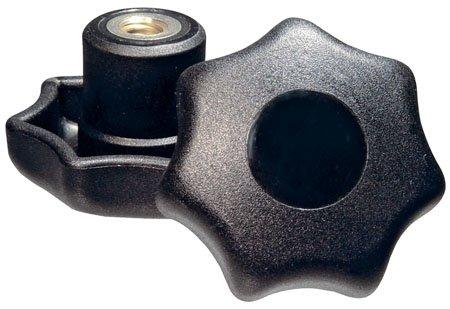 M6x1.00 thds. Kipp KPB-1082 Thermoplastic Seven-Lobe Knob 32mm Diameter