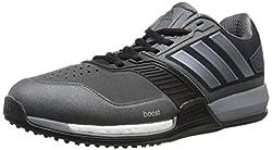 adidas Performance Men's Crazytrain Boost Training Shoe,Dark Grey/Night Metallic/Solar Red,6.5 M US
