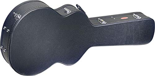 Stagg GCA-SA Basic Semi-Acoustic Guitar Hard Case - Black (Renewed)