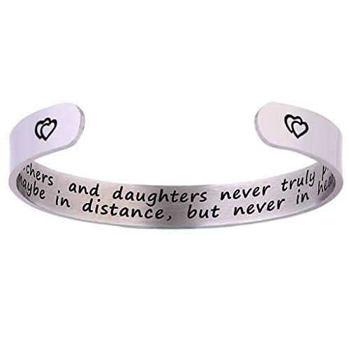 Peigen Mom Bracelet, Bangle Bracelets,Bracelet Engraved Gift Jewelry,Happy Mother's Day Jewelry Bracelet Mothers And Daughters Gifts Bracelet ()