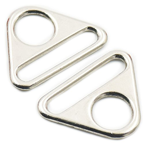 Fujiyuan 20 pcs 38mm 1.5 Adjuster triangle with bar Swivel Clip D dee Ring buckle Cast