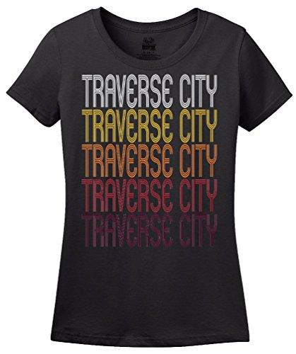 Traverse City, MI | Retro, Vintage Style Michigan Pride - Mi Clothing Women's City Traverse