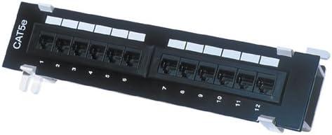 7PMV12T-K11-CEC//BK Pros Kit Patch Panel 12 Port Vertical w//Bracket CAT5e
