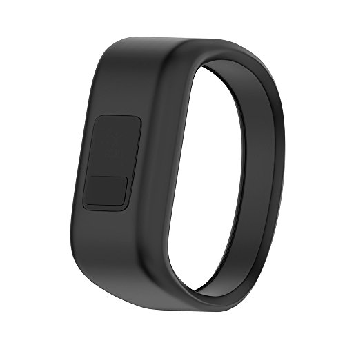 ANCOOL Compatible Garmin Vivofit JR Bands Replacement Silicone Sports Wristbands Compatible Garmin Vivofit JR/Vivofit JR 2/Vivofit 3(NOT Including Tracker) - Large Black