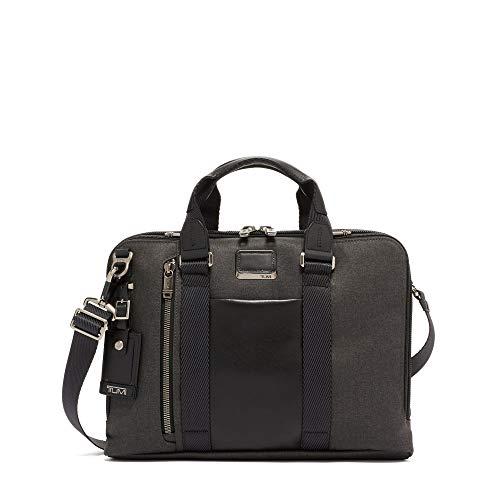 Tumi Men's Alpha Bravo Aviano Slim Briefcase, Graphite, Grey, One Size ()