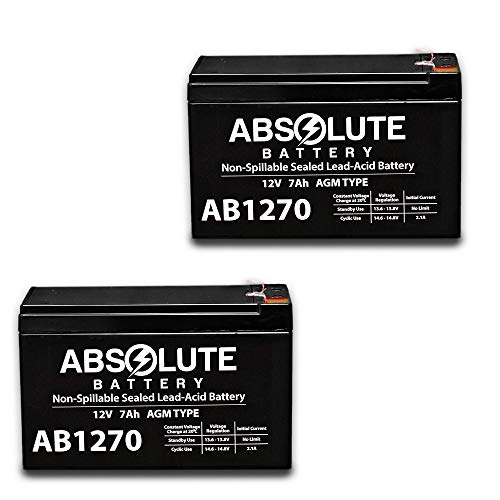 2 Pack New AB1270 12V 7AH Replacement Battery for Rastar Ferrari RA-81900