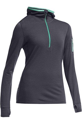 Icebreaker Pullover Hoodie Terra Long Sleeve Half Zip Hood - Sudadera para mujer Gris