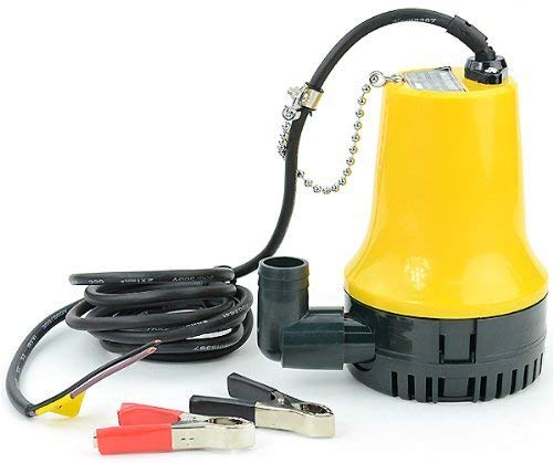 Sutekus 【Small Submersible Pump 12V for Pumping and Draining Seawater etc! Maximum Discharge Rate 70 l/min