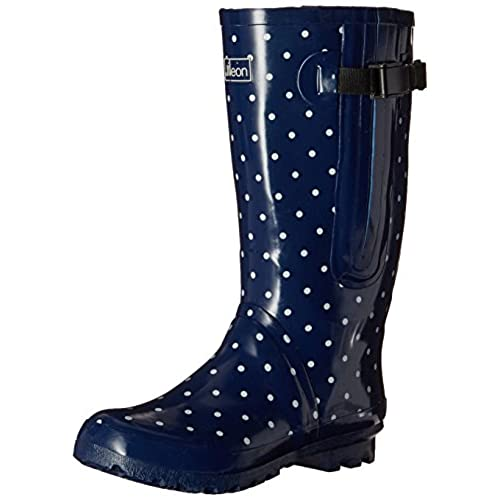 1fce7f69fa1 Jileon Extra Wide Calf Rubber Rain Boots for Women-Widest Fit Boots in the  US-up to 21 inch calves-Wide in the Foot and Ankle-Durable Boots for All  Weathers ...