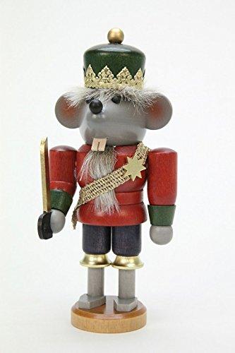 German Christmas Nutcracker Mouse King glazed - 17cm / 7 inch - Christian Ulbricht by ISDD Cuckoo Clocks