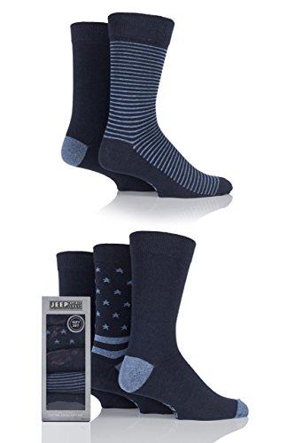 Mens 5 Pair Jeep Spirit Stars and Stripes Cotton Socks Gift Box Denim 6-11 Mens